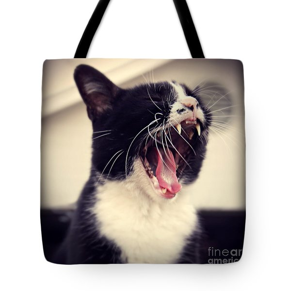 Yawn Like You Mean It Tote Bag by Trish Mistric