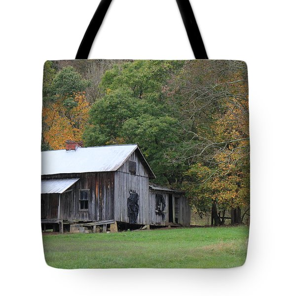 Ye Old Cabin In The Fall Tote Bag