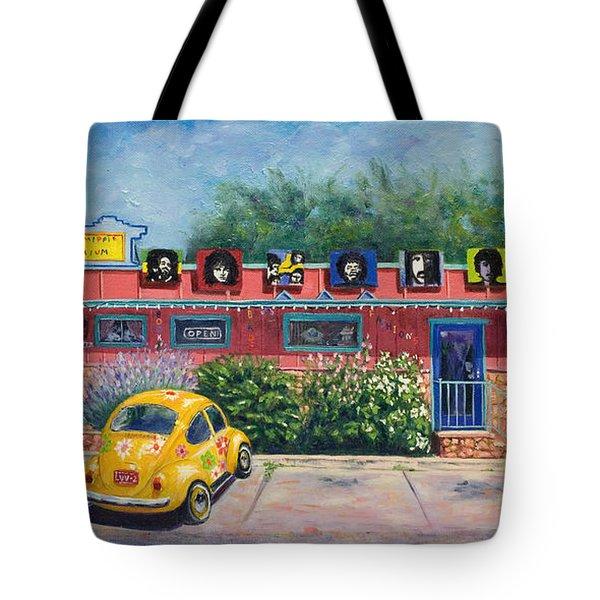 Ye Ole Hippie Emporium Tote Bag by Patty Kay Hall