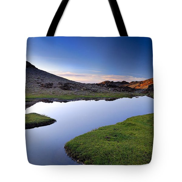 Yeguas Lake At Sunset Tote Bag by Guido Montanes Castillo