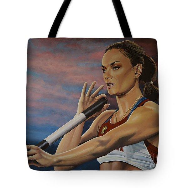 Yelena Isinbayeva   Tote Bag by Paul Meijering