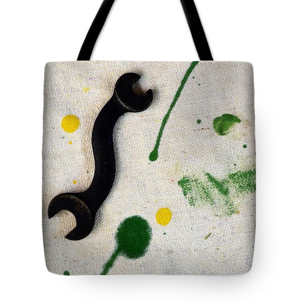 Yellow # 5 Tote Bag by Tom Druin