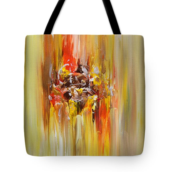 Yellow Abstract Landscape Tote Bag