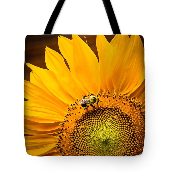 Yellow And Black Tote Bag by Sara Frank