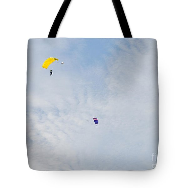 Yellow And Blue Mix Up Tote Bag by Cheryl McClure