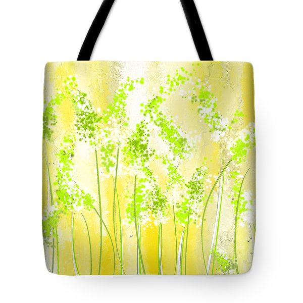 Yellow And Green Art Tote Bag