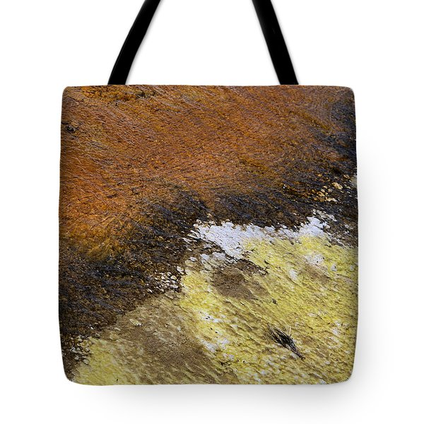 Tote Bag featuring the photograph Yellow And Orange Converging by Nadalyn Larsen