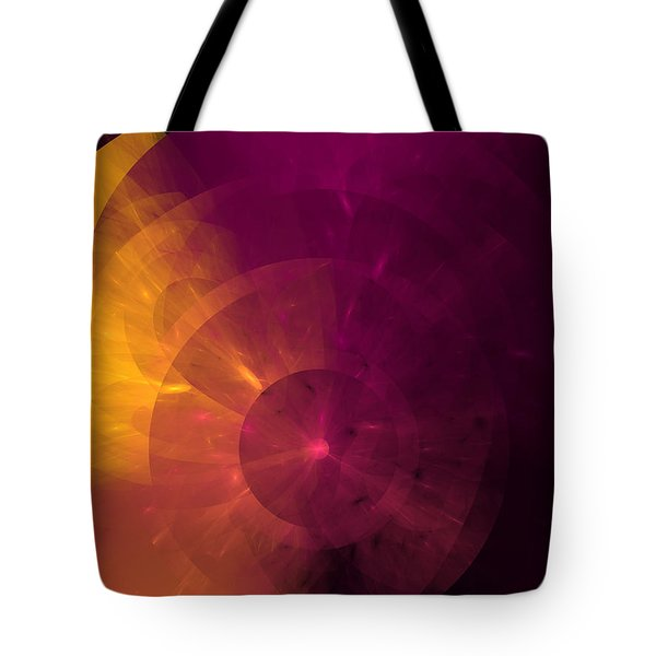 Yellow And Purple Umbrella Top Abstract  Tote Bag by Andee Design