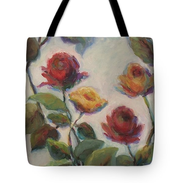 Yellow And Red Roses  Tote Bag