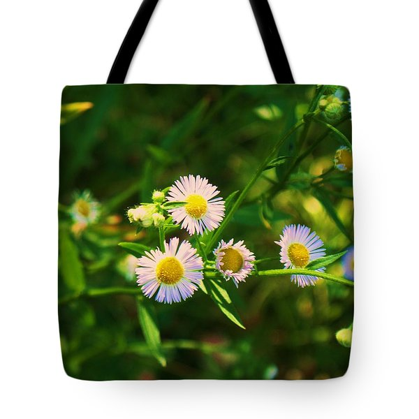 Yellow And White Dasies Tote Bag by Eric  Schiabor