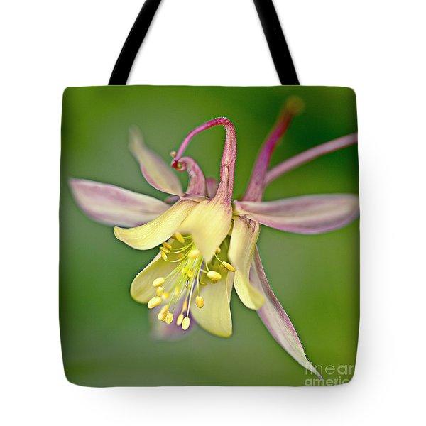 Yellow Aquilegia Bloom Tote Bag