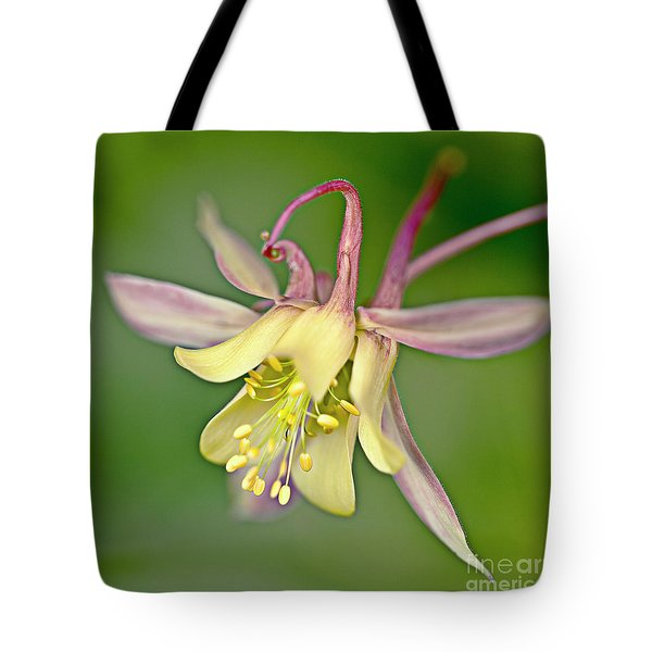 Yellow Aquilegia Bloom Tote Bag by Heiko Koehrer-Wagner