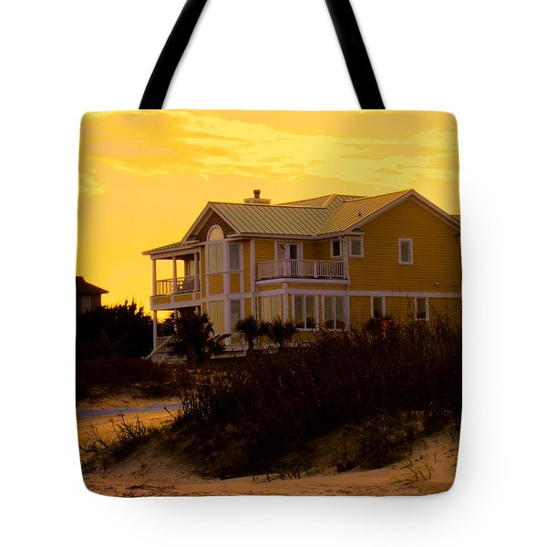 Yellow Beauty At Isle Of Palms Tote Bag by Kendall Kessler