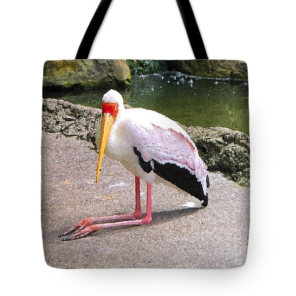 Tote Bag featuring the photograph Yellow-billed Heron by Sergey Lukashin