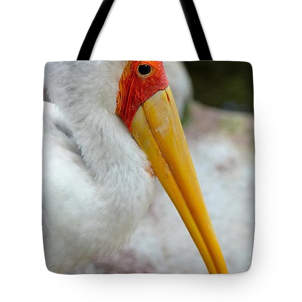 Yellow Billed Stork Tote Bag by Richard Bryce and Family