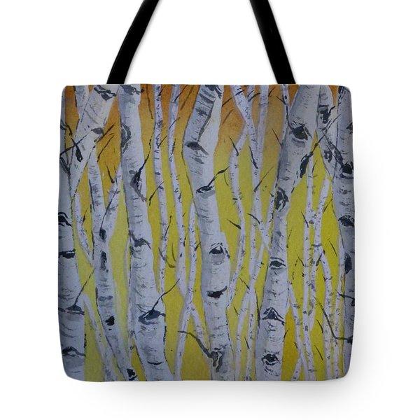 Yellow Birch Tote Bag