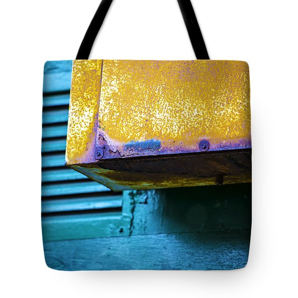 Yellow-blue Abstract Tote Bag