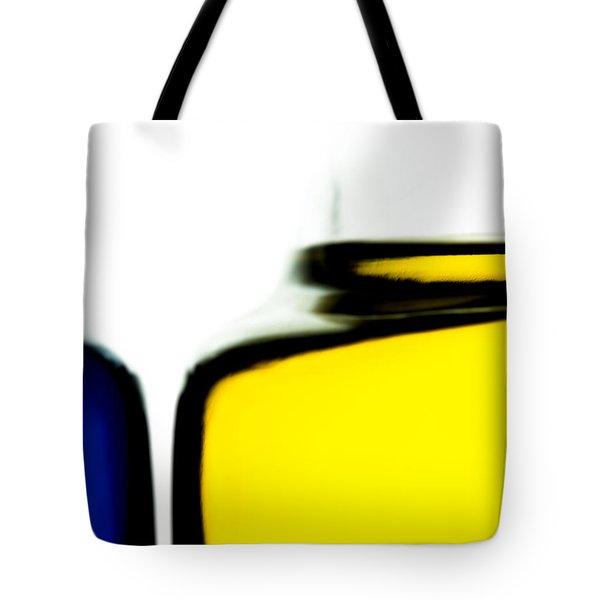 Yellow Blue Tote Bag by Bob Orsillo