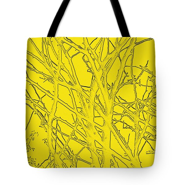Yellow Branches Tote Bag by Carol Lynch