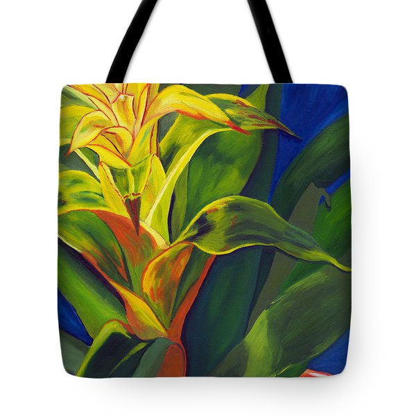 Yellow Bromeliad Tote Bag