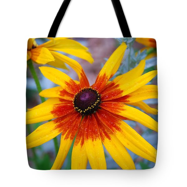 Tote Bag featuring the photograph Yellow Burst by Allen Beatty