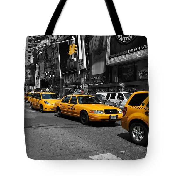 Tote Bag featuring the photograph Yellow Cabs by Randi Grace Nilsberg