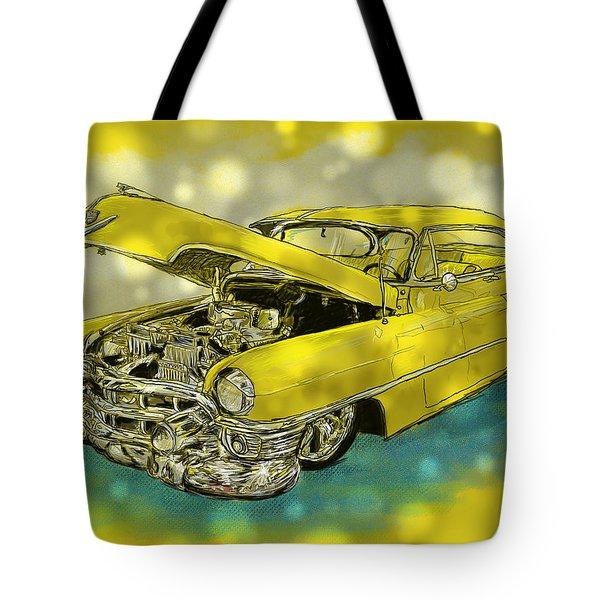 Yellow Cad Tote Bag by Debra Baldwin