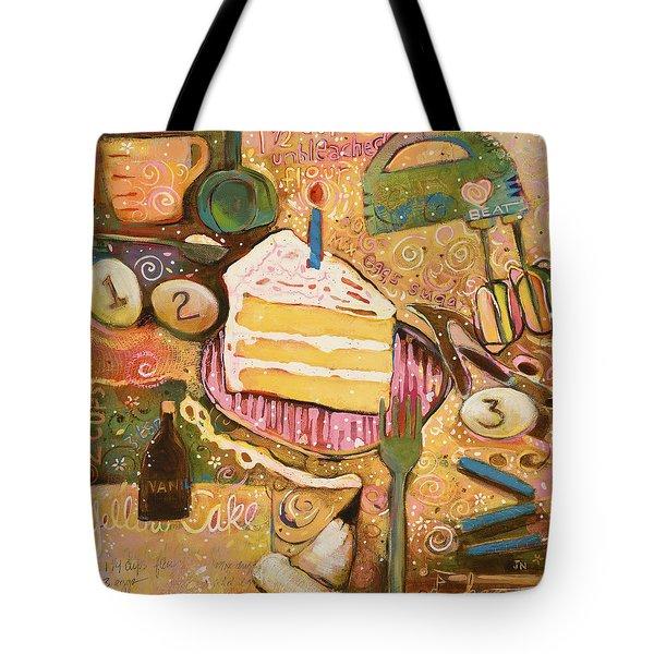 Yellow Cake Recipe Tote Bag