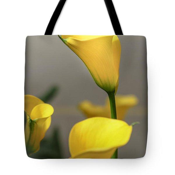 Yellow Calla Lilies Tote Bag by Menachem Ganon