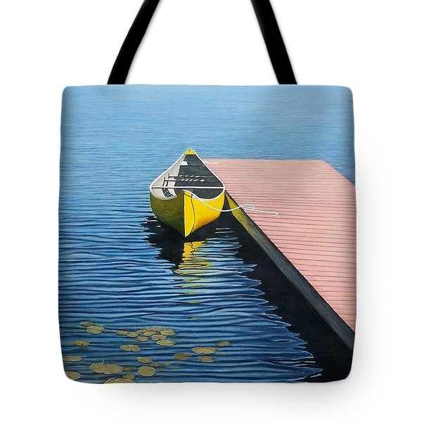 Yellow Canoe Tote Bag