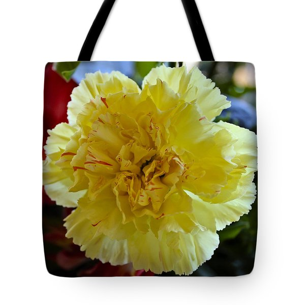 Yellow Carnation Delight Tote Bag by Kurt Van Wagner
