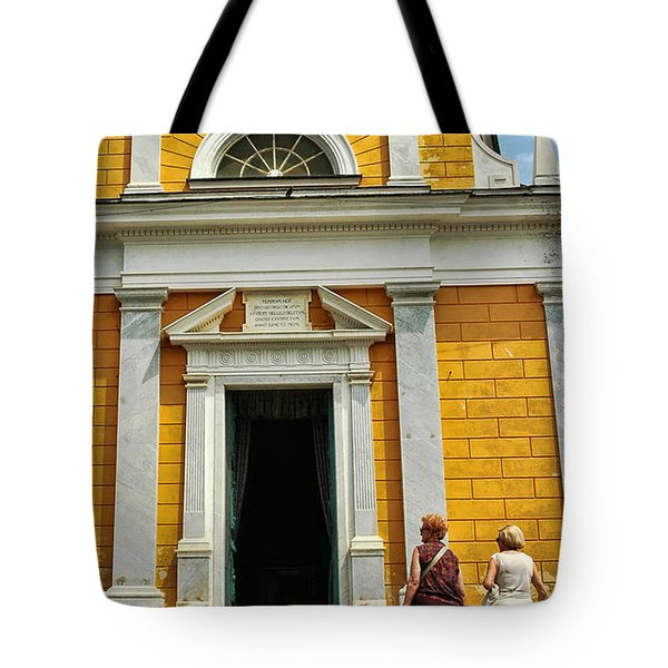 Tote Bag featuring the photograph Yellow Church by Allen Beatty