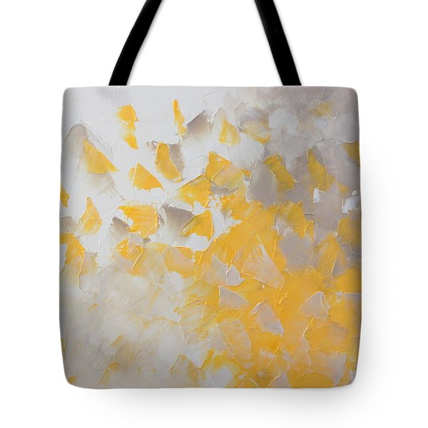 Yellow Cloud Tote Bag