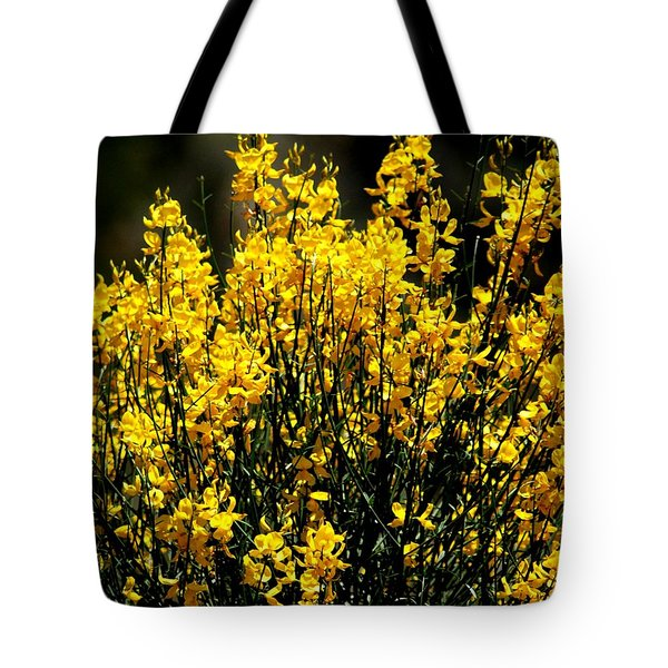 Tote Bag featuring the photograph Yellow Cluster Flowers by Matt Harang