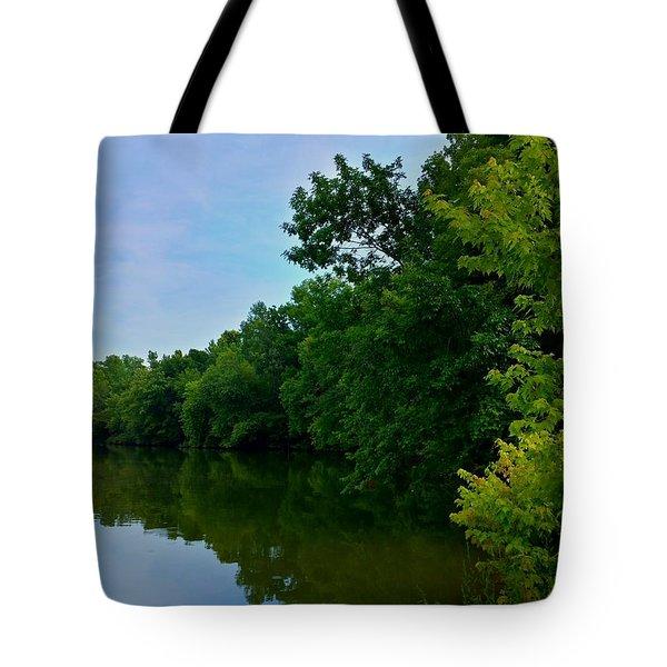 Yellow Creek Tote Bag by Chris Tarpening