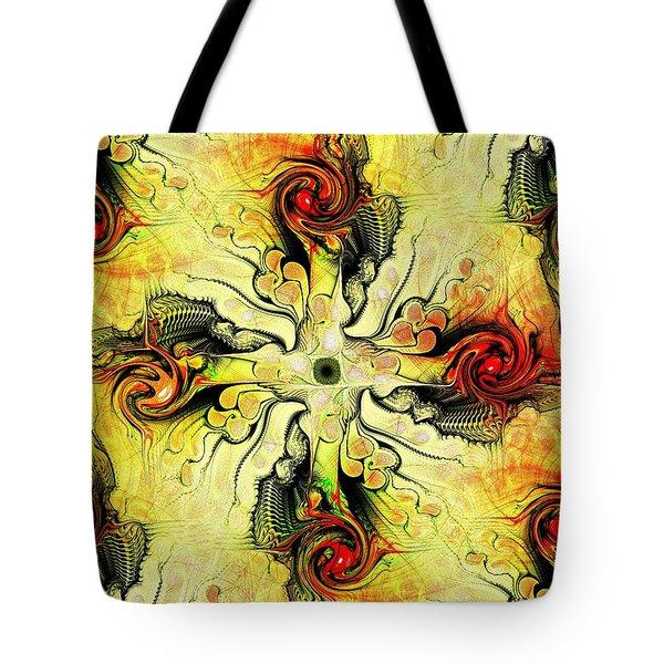 Yellow Cross Tote Bag by Anastasiya Malakhova