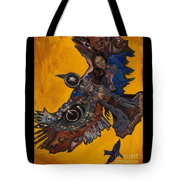Yellow Crow Tote Bag by Emily McLaughlin