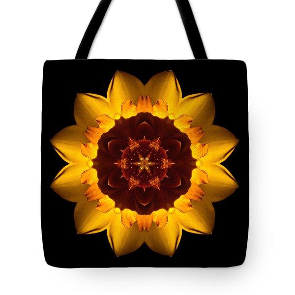 Yellow Daffodil I Flower Mandala Tote Bag