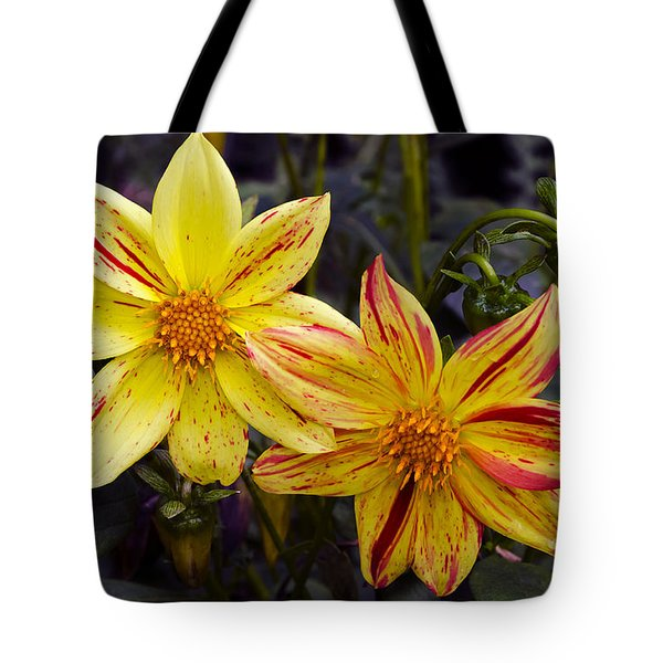 Yellow Dahlia Tote Bag