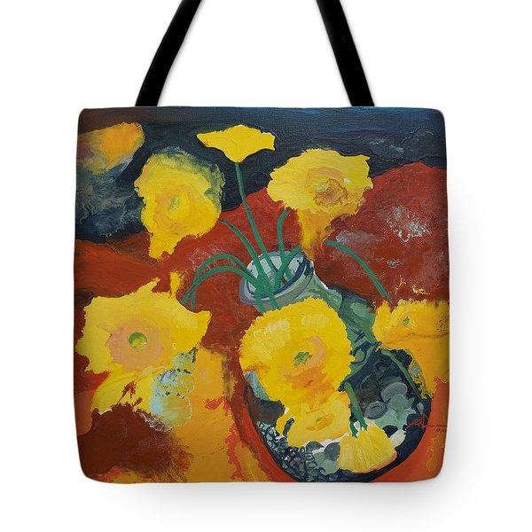 Yellow Daisies Tote Bag by Joseph Demaree