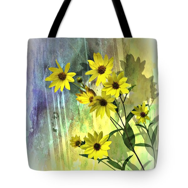 Tote Bag featuring the photograph Yellow Daisies by Judy  Johnson