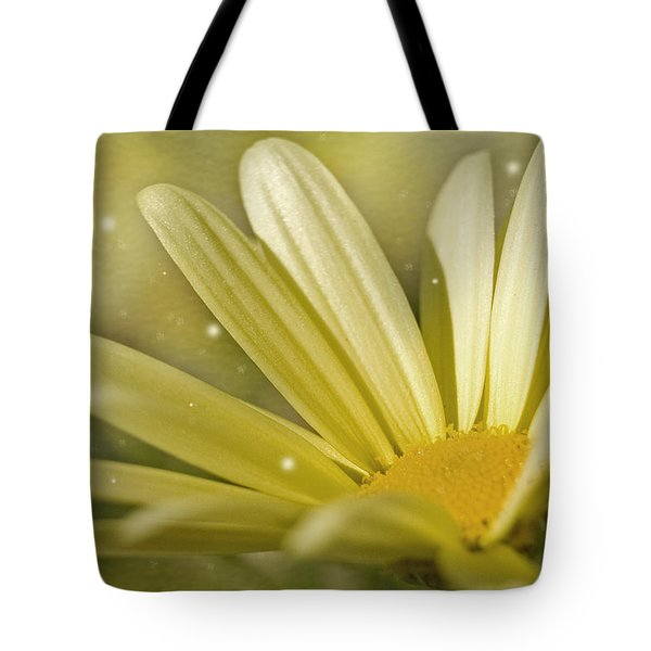 Yellow Daisy Tote Bag by Ann Lauwers
