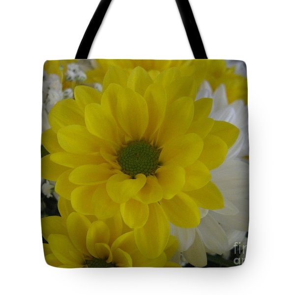 Yellow Daisy Tote Bag