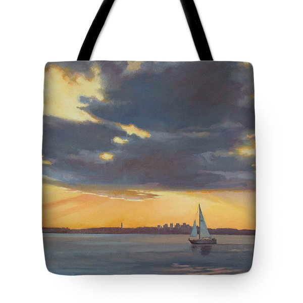 Yellow Tote Bag by Dianne Panarelli Miller
