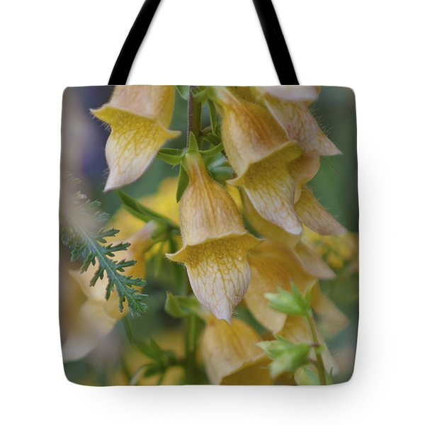 Yellow Digitalis Tote Bag