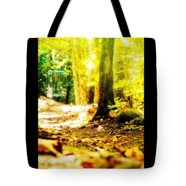 Yellow Discin Day Tote Bag