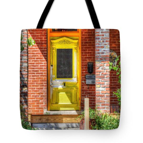 Yellow Door Tote Bag by Liane Wright