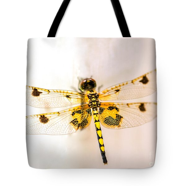 Yellow Dragonfly Pantala Flavescens Tote Bag