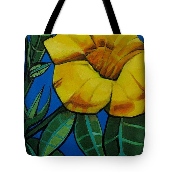 Yellow Elder - Flower Botanical Tote Bag by Grace Liberator