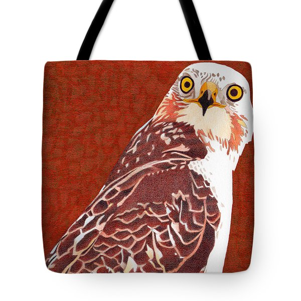 Yellow Eyed Hawk Tote Bag